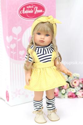 Кукла виниловая Белла с русыми волосами, бренд Antonio Juan, 45 см