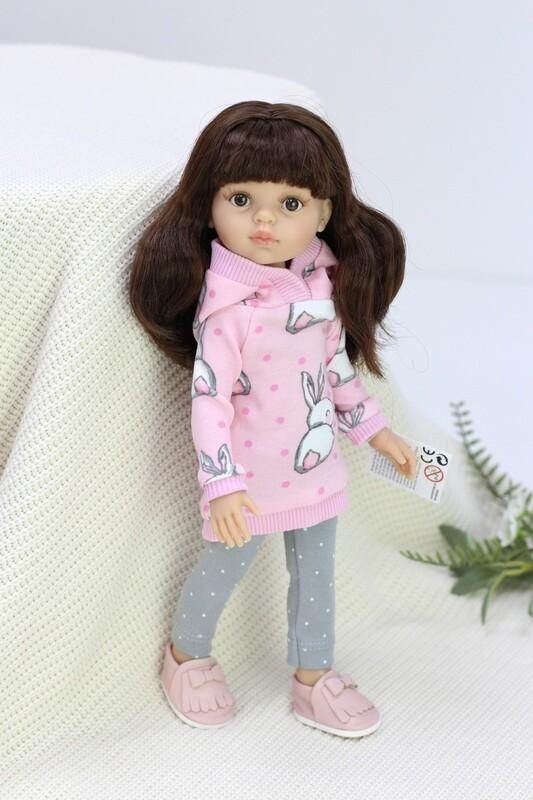 Кукла Кэрол с челкой и карими глазами, в стильном костюме (Паола Рейна), 34 см