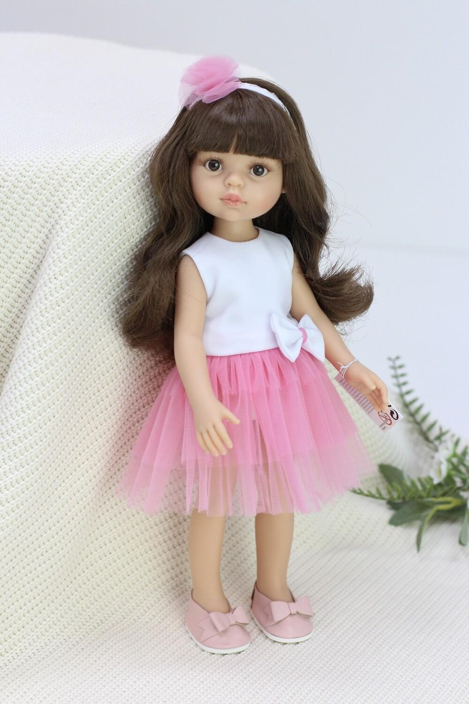 Кукла Кэрол с челкой в нарядном платье (Паола Рейна), 34 см