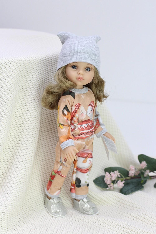 Кукла Карла с серыми глазами с волосами по пояс в модном комбинезоне, (Паола Рейна), 34 см