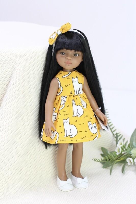 Кукла Мэйли в модном платье с кисками, Паола Рейна (Paola Reina), 34 см