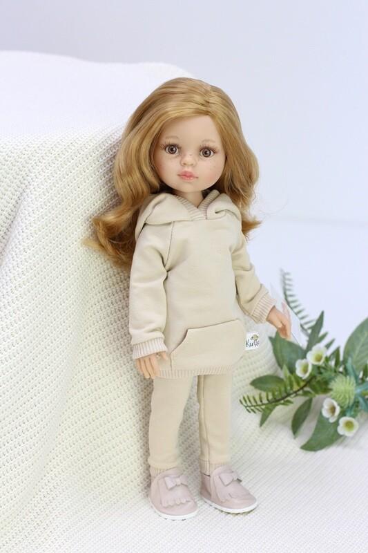 Кукла Даша с медовыми глазками в модном костюме (Паола Рейна), 34 см