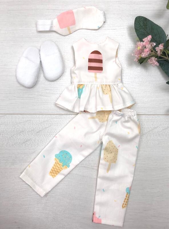 Пижама для куклы с мороженкой ( в ассортименте) Paola Reina 32-34 см