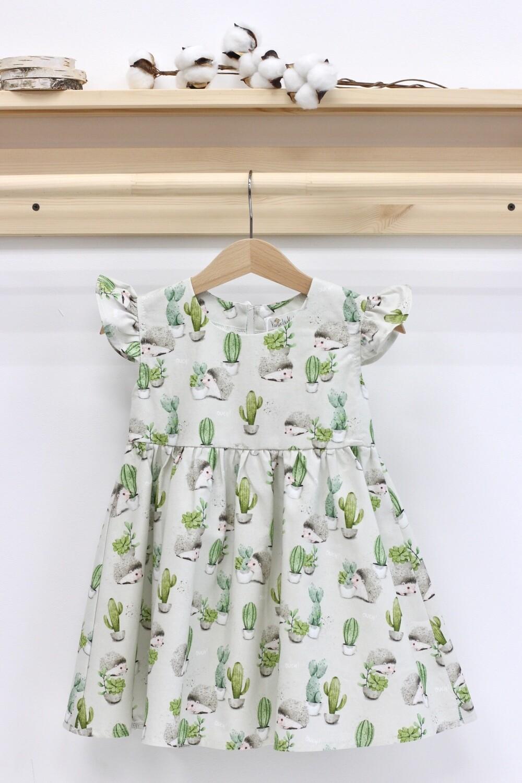 Платье летнее «Ежики»
