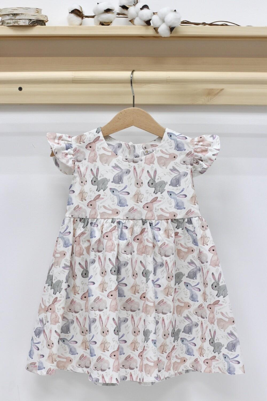 Платье летнее «Зайки на белом»
