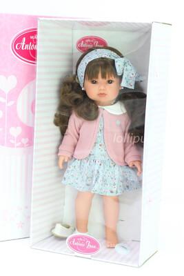 Кукла виниловая Белла с длинными каштановыми волосами, бренд Antonio Juan, 45 см
