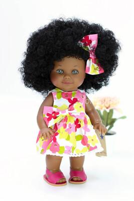 Кукла Бетти-мулатка с ароматом карамели, с серыми глазками, 30 см, Lamagik Magic Baby, в фабричном наряде
