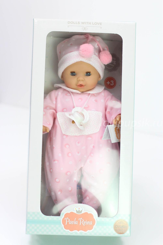 Кукла мягконабивная Соня с закрывающимися глазками, со звуковым механизмом, Paola Reina, 36 см