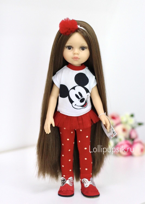 Кукла Кэрол Рапунцель с длинными волосами в модной одежде (пижама в комплекте), (Паола Рейна), 34 см