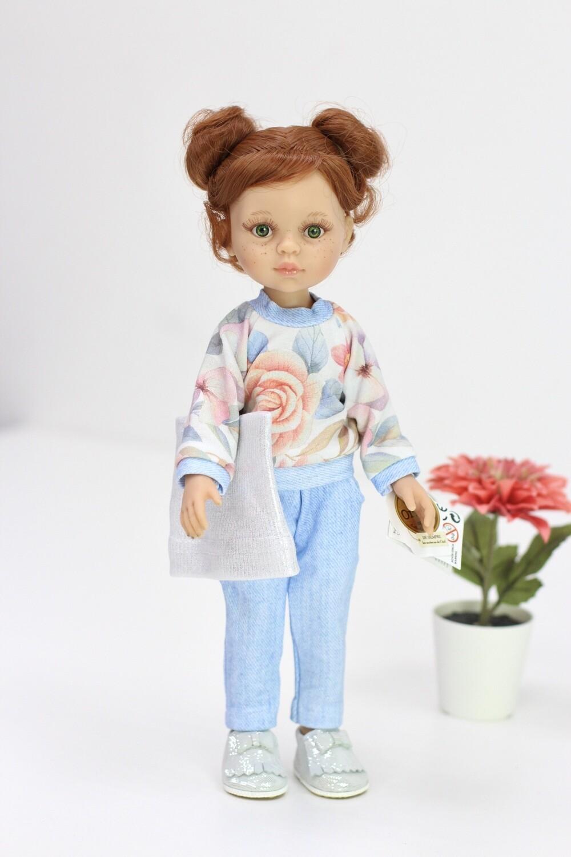Кукла Кристи с буклями в стильном образе,  Паола Рейна , 34 см