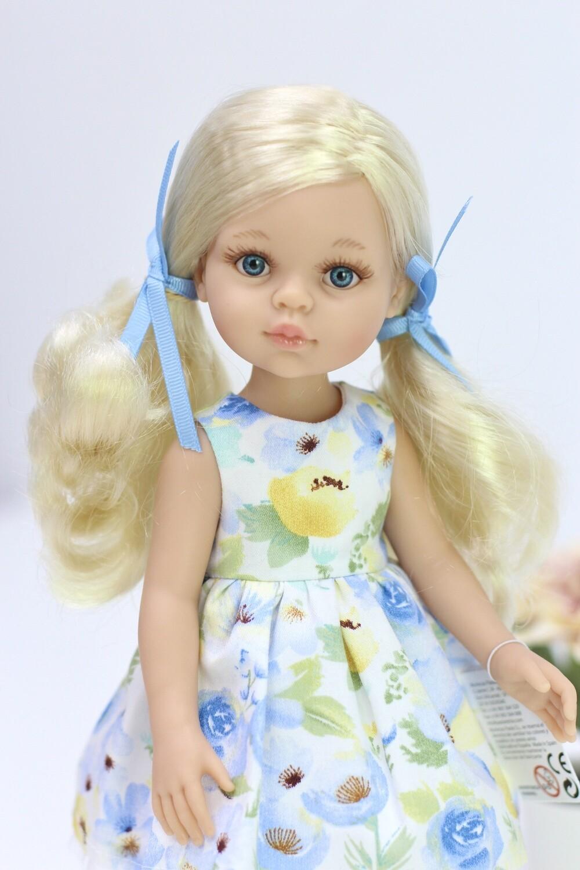 Кукла Клаудия в красивом платье Паола Рейна, 34 см