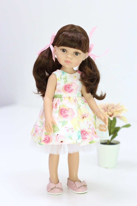 Кукла Кэрол с челкой в красивом платье (Паола Рейна), 34 см
