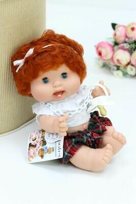 Пупс с закрывающимися глазками Nines d'Onil, рыжие волосы - 26 см