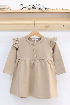 Платье с длинным рукавом «Карамель»