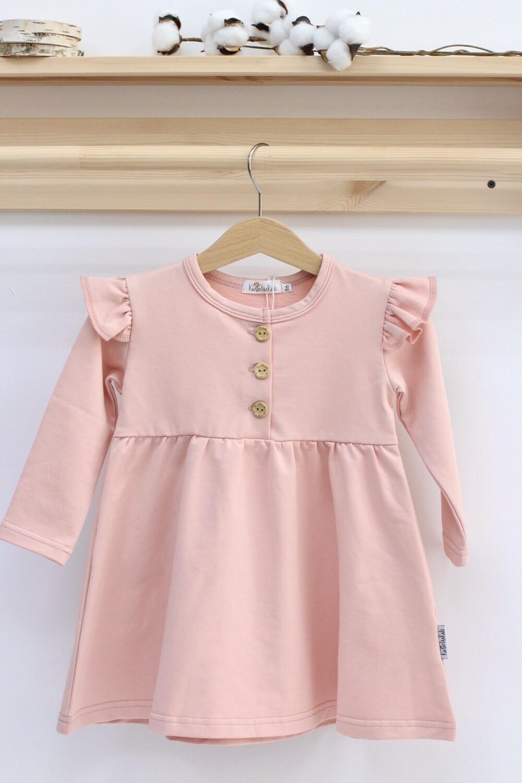 Платье с длинным рукавом «Персик»