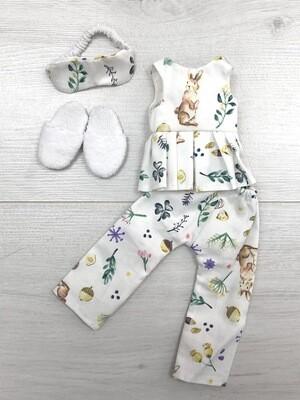 Пижама с зайкой для куклы Paola Reina 32-34 см
