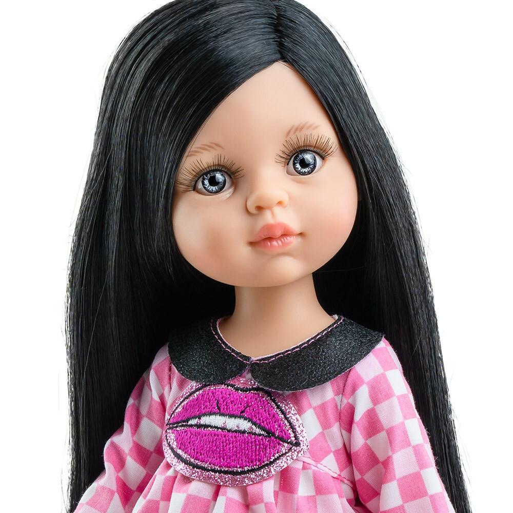 Кукла Карина с волосами ниже колен, глазки серо-голубые (в фабричном наряде) (Паола Рейна), 34 см