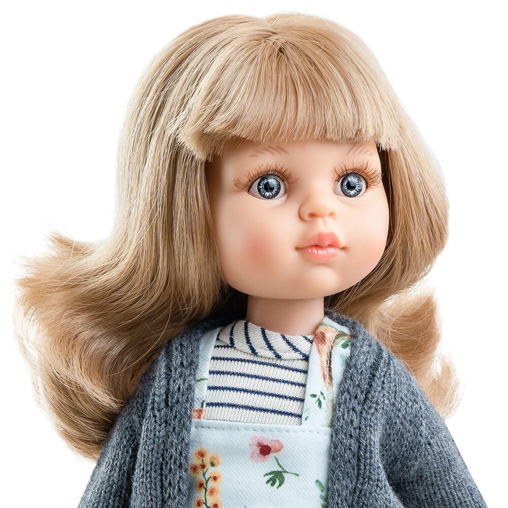 Кукла Карла с челкой, глазки серо-голубые (Паола Рейна) (в фабричном наряде), 34 см