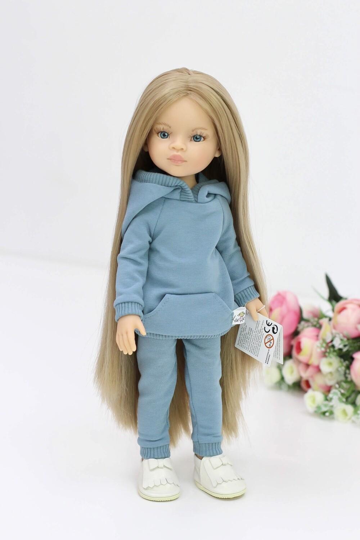 Кукла Маника с волосами до щиколоток (Рапунцель) в морском костюме (пижама в комплекте), Паола Рейна, 34 см