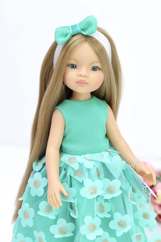 Кукла Маника с волосами до щиколоток (Рапунцель) в нарядном образе (пижама в комплекте), Паола Рейна, 34 см