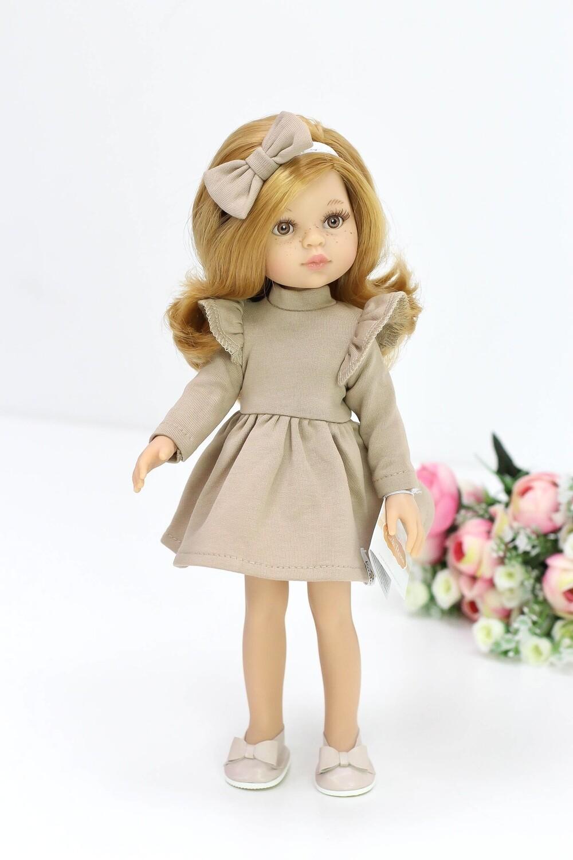 Кукла Даша с медовыми глазками в карамельном платье (Паола Рейна), 34 см