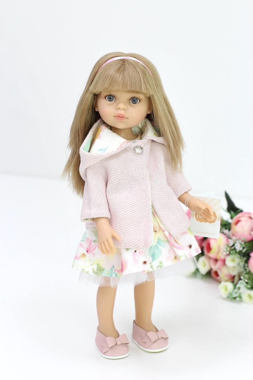 Кукла Карла с челкой, серые глазки, с волосами по пояс в стильном комплекте, (Паола Рейна), 34 см