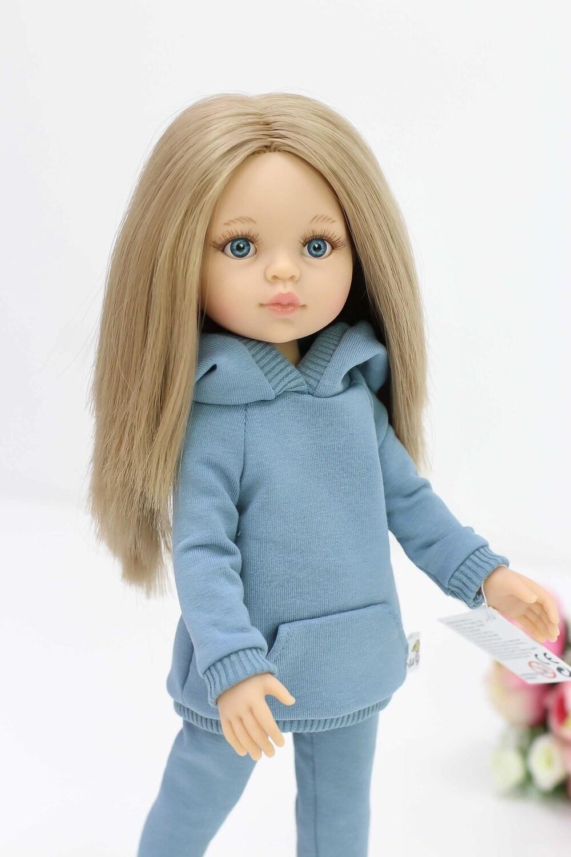 Кукла Карла с голубыми глазами, с прямыми волосами по пояс (Паола Рейна), 34 см