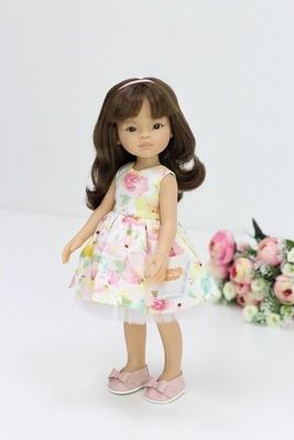 Кукла Мали с челкой в одежде, Паола Рейна , 34 см
