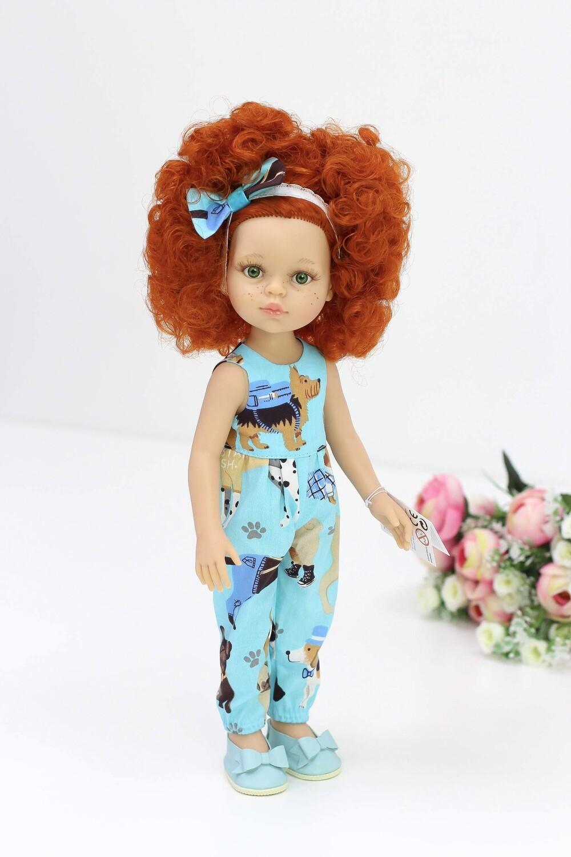 Кукла Каролина в комбезе с собачками,  Паола Рейна , 34 см