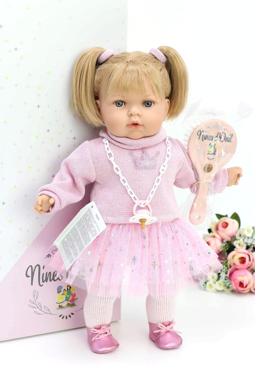 Кукла мягконабивная Тита (Tita Tutu) в розовом наряде, 45 см