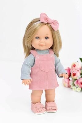 Кукла Бетти с ароматом карамели, в вельветовом сарафане, 30 см, Lamagik Magic Baby