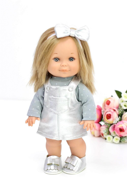 Кукла Бетти с ароматом карамели, в серебристом сарафане, 30 см, Lamagik Magic Baby