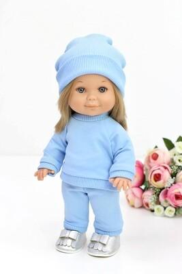 Кукла Бетти с ароматом карамели, в костюме с шапкой цвета