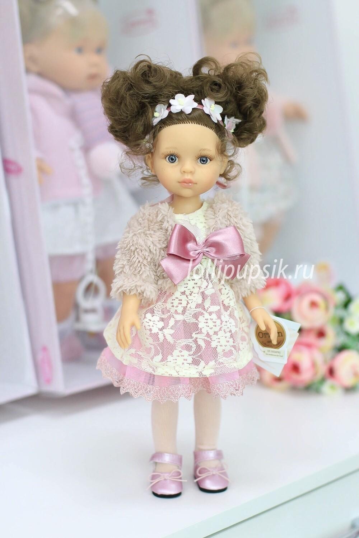 Кукла Кэрол с кудряшками и голубыми глазками (в фабричном наряде) (Паола Рейна), 34 см
