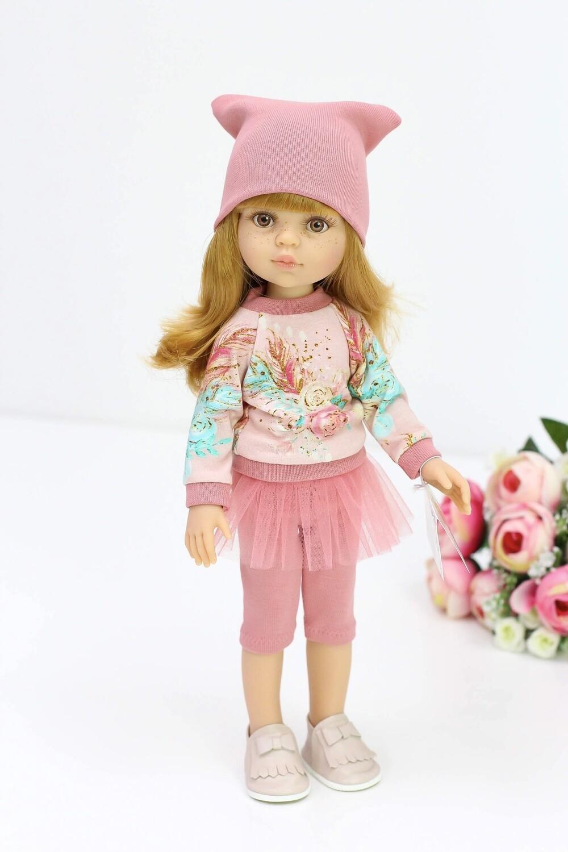 Кукла Даша с челкой в стильном комплекте (Паола Рейна), 34 см
