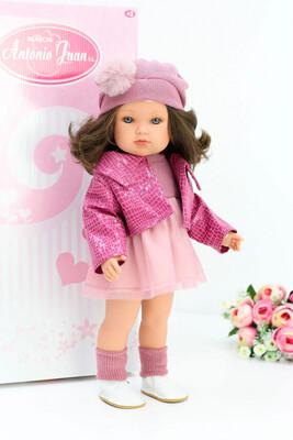 Кукла виниловая Белла с каштановыми волосами, Antonio Juan, 45 см. Упаковка фирменная коробка