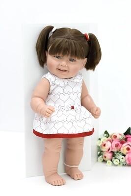 Кукла виниловая Manolo Dolls DIANA с тёмными волосами, 50 см. Упаковка фирменная коробка