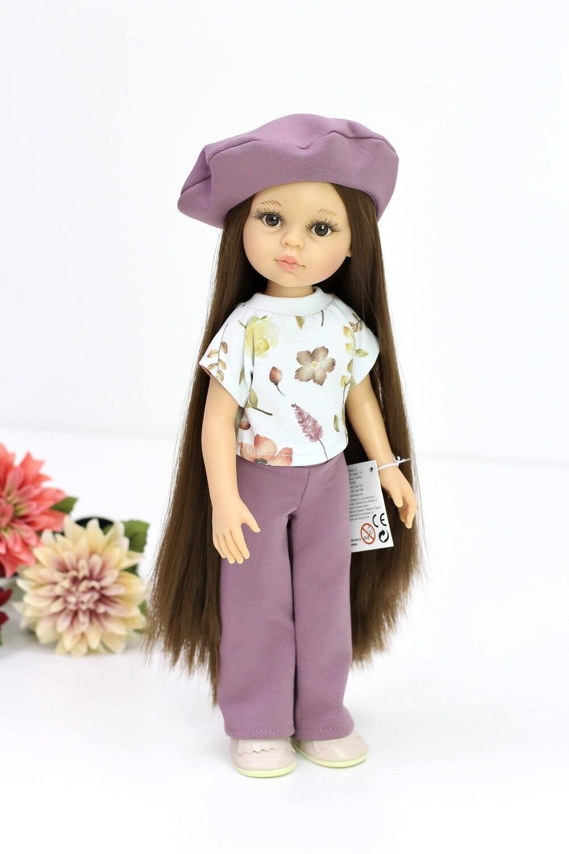Предзаказ. Отправка после 10 июня. Кукла Кэрол Рапунцель с длинными волосами в модной одежде (Паола Рейна) (пижама в комплекте), 34 см