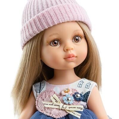 Кукла Карла с карими глазами, Паола Рейна (в фабричном наряде), 34 см