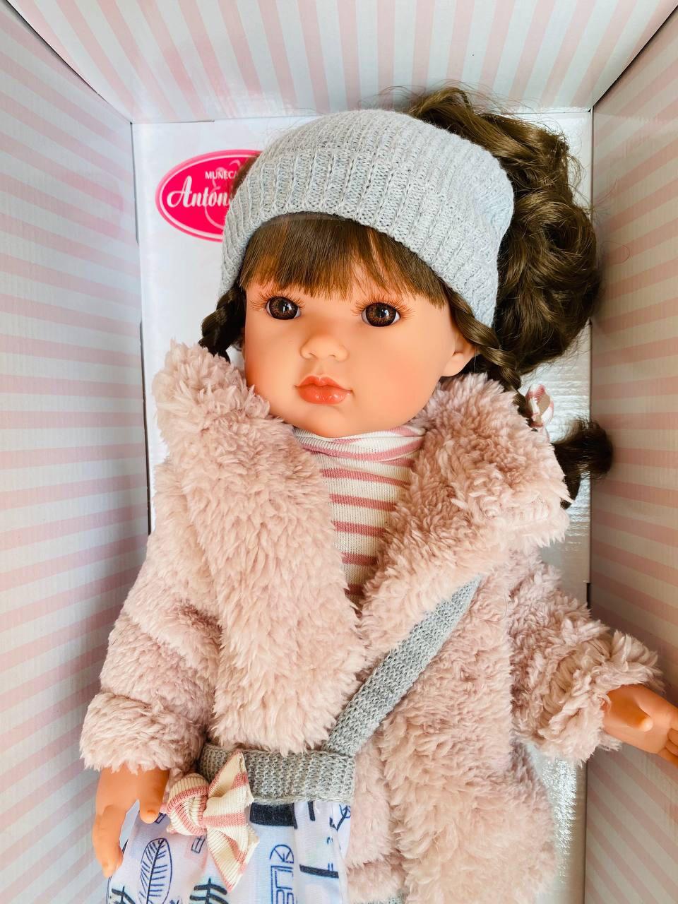 Кукла виниловая Белла с каштановыми волосами, бренд Antonio Juan, 45 см