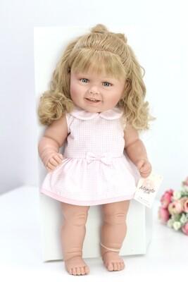 Кукла виниловая Manolo Dolls DIANA со светлыми волосами, 50 см. Упаковка фирменная коробка