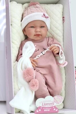 Кукла-младенец, полностью виниловая Tina, Llorens, 43 см