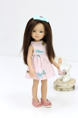 Кукла Мали с серыми глазами в летнем образе, Паола Рейна , 34 см