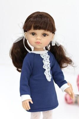 Кукла Кэрол с челкой в образе школьницы (Паола Рейна), 34 см