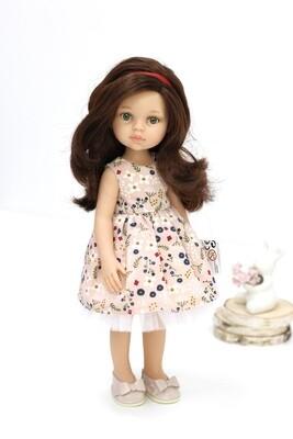 Кукла Кэрол с волосами по пояс в красивом платье, с зелеными глазами (Паола Рейна), 34 см