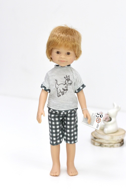 Кукла-мальчик Дарио в пижаме (Паола Рейна), 34 см