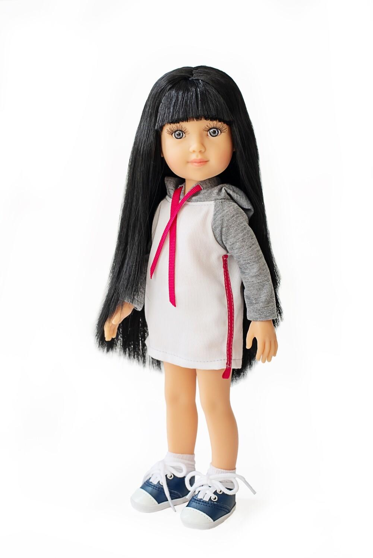 Кукла Беата с серыми глазами, Reina del Norte (в фабричном наряде), 34 см