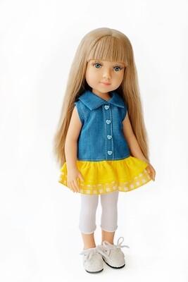 Кукла Бланка с голубыми глазами, Reina del Norte (в фабричном наряде), 34 см