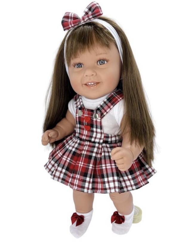 Кукла виниловая Manolo Dolls DIANA Рапунцель-школьница, 50 см
