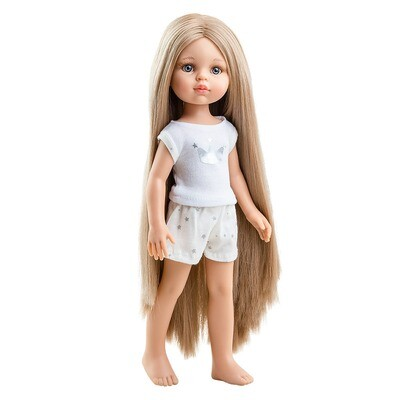 Кукла Карла Рапунцель без одежды в комплекте с пижамкой, Паола Рейна , 34 см